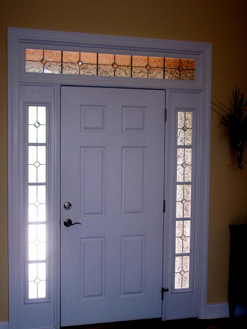 Home entrance door front door with sidelights for Exterior side entry doors