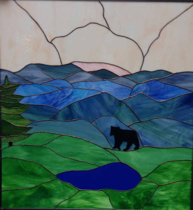 Blue Mountain Stained Glass Copper Foil Fabrication Designs