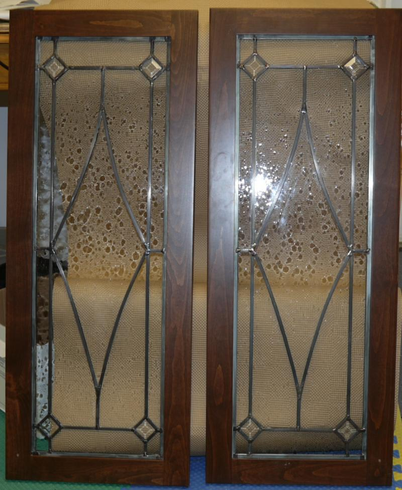 Blue Mountain Stained Glass Leaded Glass Cabinet Door Designscall
